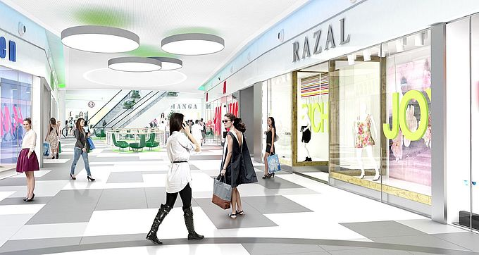 Sun Plaza rendering after refurbishment
