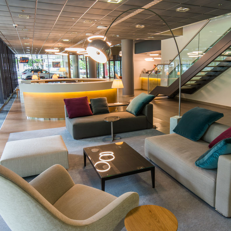 Lounge furniture in S IMMO's Eurocenter in Zagreb