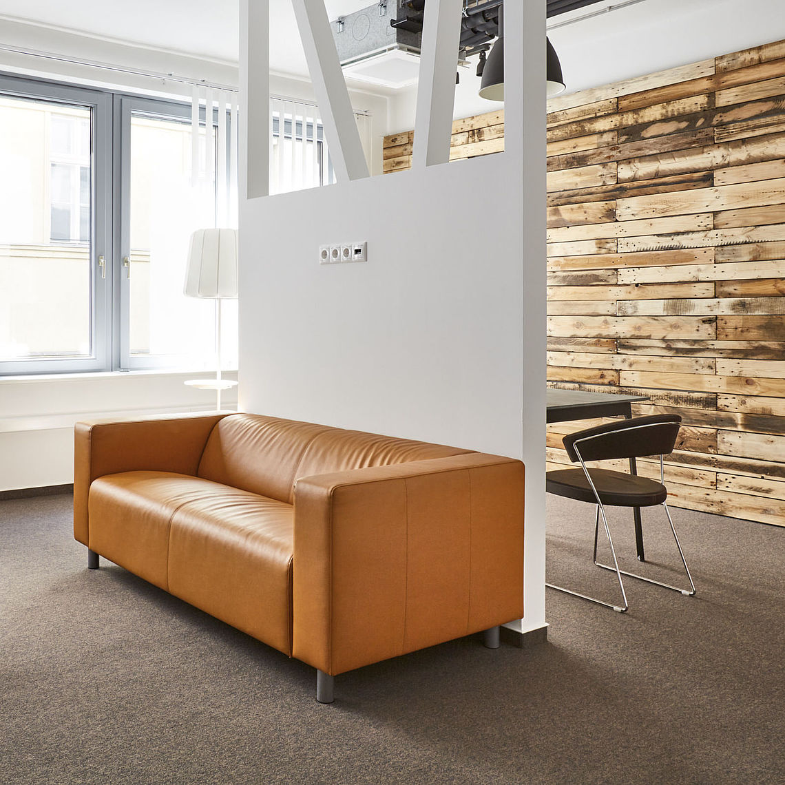 Interior view office property Podium in Budapest