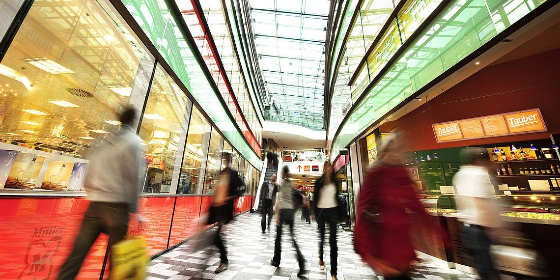 Innenansicht Arcade Meidling in Wien