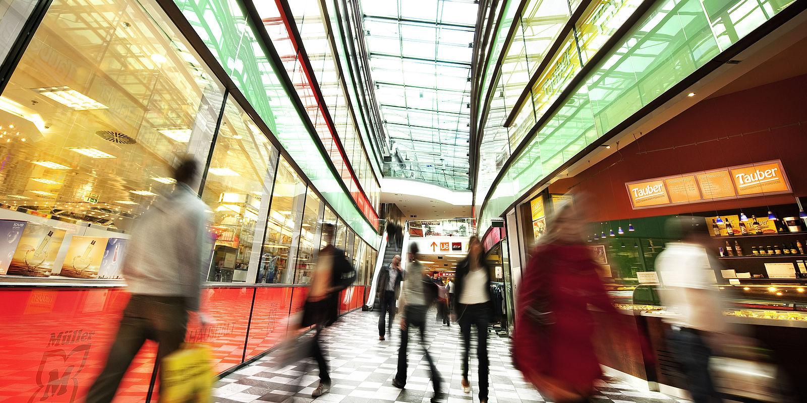 Interior view Arcade Meidling in Vienna